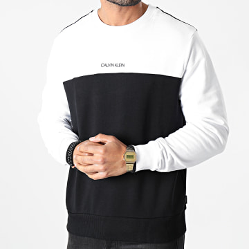 Calvin Klein - Sweat Crewneck Color Block 6724 Noir Blanc