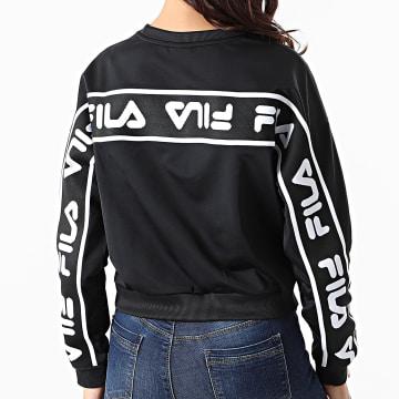 Fila - Sweat Crewneck Femme A Bandes Tallis 687693 Noir
