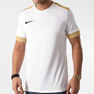 Nike - Tee Shirt Col V Blanc