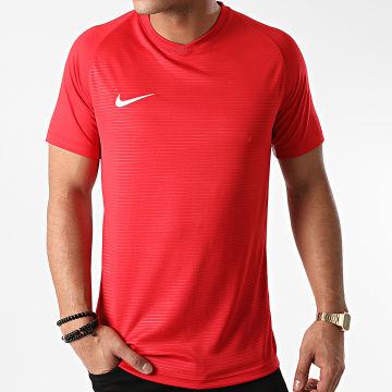 Nike - Tee Shirt Col V Rouge