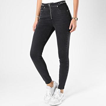 Calvin Klein - Jean Super Skinny Femme High Rise 4545 Gris Anthracite