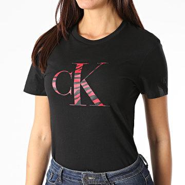 Calvin Klein - Tee Shirt Femme Zebra CK 4793 Noir