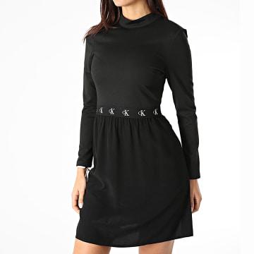 Calvin Klein - Robe Femme Logo Elastic Dress 4862 Noir