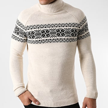Ikao - Pull Col Roulé LL176 Beige