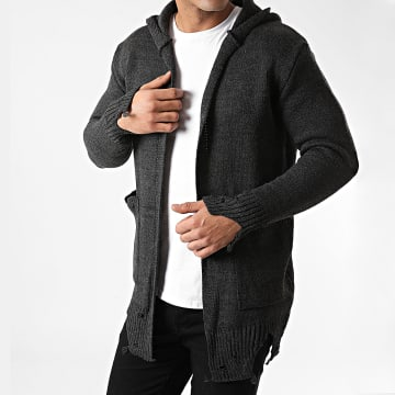 Ikao - Gilet A Capuche LL185 Gris Anthracite