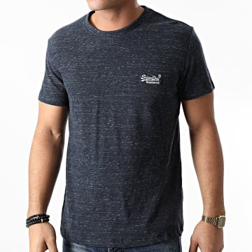 Superdry - Tee Shirt OL Vintage Embroidered M1010222A Bleu Marine Chiné