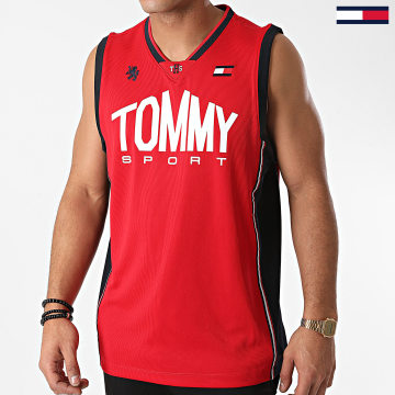 Tommy Sport - Débardeur Basketball Iconic 0501 Rouge