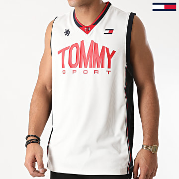 Tommy Sport - Débardeur Basketball Iconic 0501 Blanc Cassé
