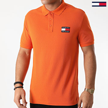 Tommy Jeans - Polo Manches Courtes Tommy Badge 7456 Orange