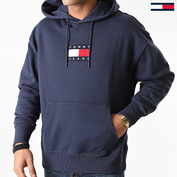 Tommy Jeans - Sweat Capuche Small Flag 8726 Bleu Marine