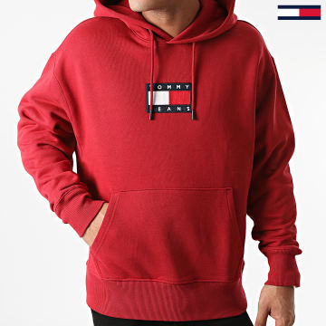 Tommy Jeans - Sweat Capuche Small Flag 8726 Bordeaux