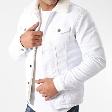 Zayne Paris  - Veste Jean Col Mouton VM7 Blanc