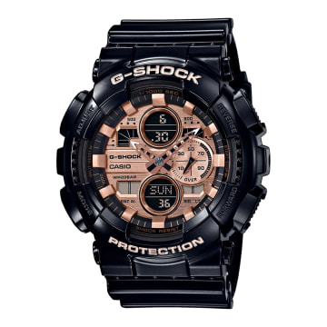 Casio - Montre G-Shock GA-140GB-1A2ER Noir Or Blanc