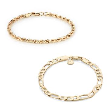 Chained And Able - Lot De 2 Bracelets Majesty BA17047 Doré