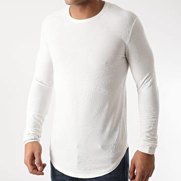 Frilivin - Tee Shirt Manches Longues Oversize U2151 Blanc