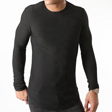 Frilivin - Tee Shirt Manches Longues Oversize U2151 Noir