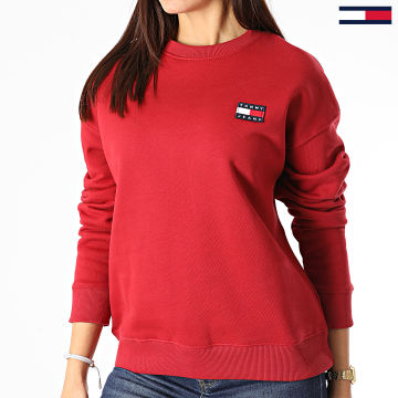 Tommy Jeans - Sweat Crewneck Femme Tommy Badge 7786 Rouge