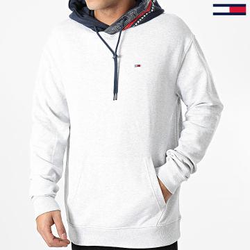 Tommy Jeans - Sweat Capuche Contrast Hood 9431 Gris Chiné Bleu Marine