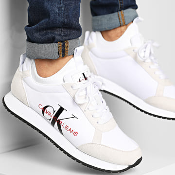 Calvin Klein - Baskets Jongi Low Top Lace Up B4S0737 White
