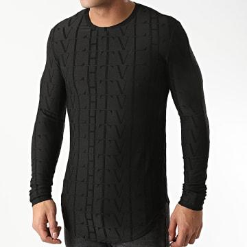 Frilivin - Tee Shirt Manches Longues Oversize U2139 Noir