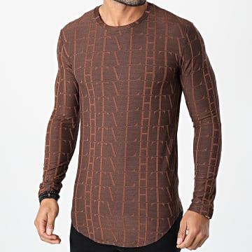 Frilivin - Tee Shirt Manches Longues Oversize U2139 Marron