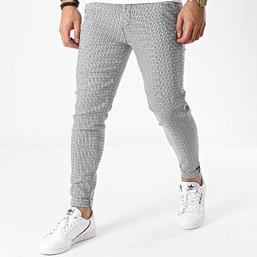 Frilivin - Pantalon A Carreaux 1827 Blanc Noir