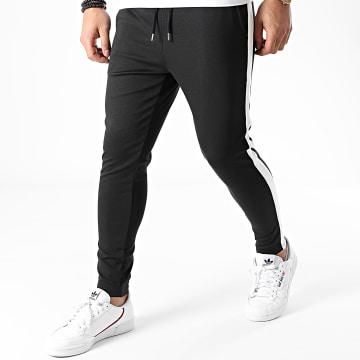 Frilivin - Pantalon Jogging A Bandes 23973 Noir