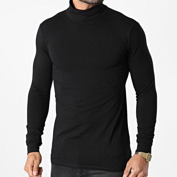 Frilivin - Tee Shirt Manches Longues Col Roulé BM1153 Noir