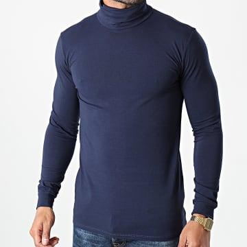 Frilivin - Tee Shirt Manches Longues Col Roulé BM1153 Bleu Marine