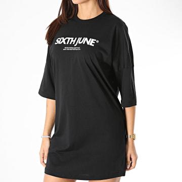 Sixth June - Robe Tee Shirt Femme W32718EDR Noir