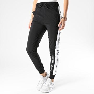 Sixth June - Pantalon Jogging Femme A Bandes W32725EPA Noir