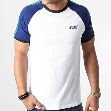 Superdry - Tee Shirt A Bandes OL Racer Cut And Sew Ringer M1000014A Blanc