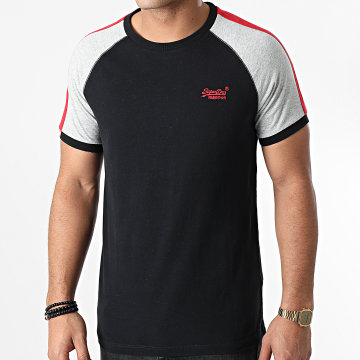 Superdry - Tee Shirt A Bandes OL Racer Cut And Sew Ringer M1000014A Noir