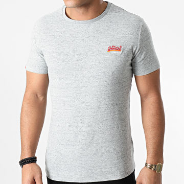 Superdry - Tee Shirt OL Vintage Embroidered M10107ET Gris Chiné