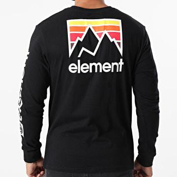 Element - Tee Shirt Manches Longues Joint Noir