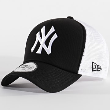 New Era - Casquette Trucker Clean 10346934 New York Yankees Noir Blanc