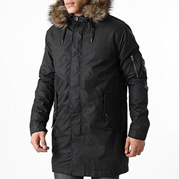 Superdry - Parka Capuche Fourrure Service Fur Trim M5010402A Noir
