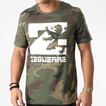 Zeguerre - Tee Shirt Lion Camouflage Vert Kaki