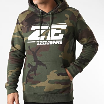 Zeguerre - Sweat Capuche ZE Camouflage Vert Kaki