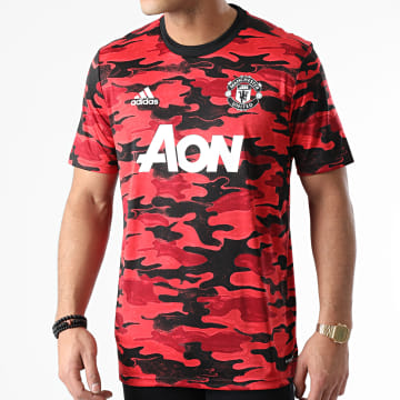 Adidas Performance - Tee Shirt Camouflage Manchester United FR6033 Rouge Noir