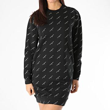 Calvin Klein - Robe Sweat Crewneck femme 5815 Noir Doré