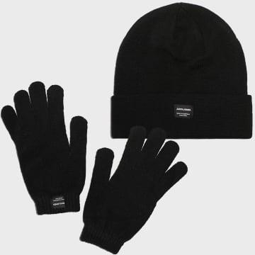 Jack And Jones - Coffret Gants Et Bonnet Knit 12168383 Noir