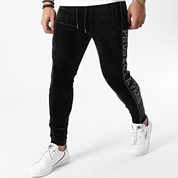 Project X - Pantalon Jogging Velours A Bandes Et Strass 1940045 Noir
