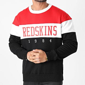 Redskins - Sweat Crewneck Tricolore Fouga Skyline Noir Rouge Blanc