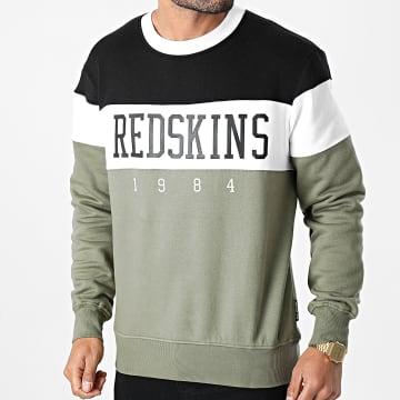 Redskins - Sweat Crewneck Tricolore Fouga Skyline Vert Kaki Noir Blanc