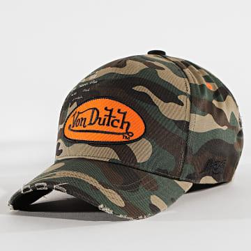 Von Dutch - Casquette Cas 1 Camo Vert Kaki
