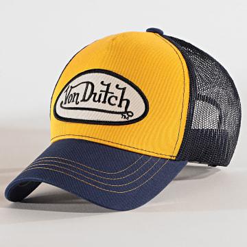Von Dutch - Casquette Trucker Cas 1 Bleu Marine Jaune