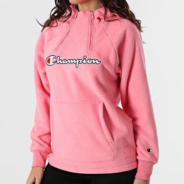 Champion - Sweat Capuche Polaire Femme 113462 Rose