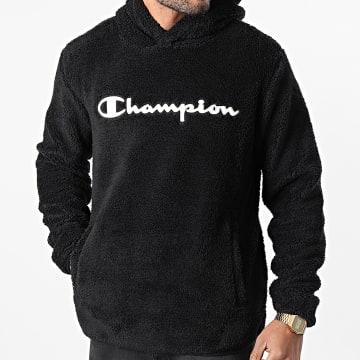 Champion - Sweat Capuche Fourrure 214973 Noir