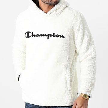 Champion - Sweat Capuche Fourrure 214973 Blanc